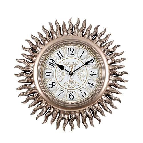 AIOJY Reloj De Pared Europeo Reloj De Pared De Sol Retro Decoración De Arte Creativo Adecuado para Sala De Estar