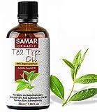 Aceite de Árbol de Té - Australiano Calidad Premium 100% Puro y Orgánico Certificado, Natural, Utilizado como Antiséptico, Aromaterapia, Mezcla para Masajes y Tratamiento de Cuidado de la Piel - 30 ml