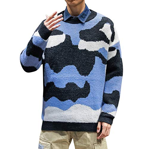Luckycat Herren Strickpullover Feinstrick Pullover Mit Rundhalsausschnitt Herren Strickpullover Pullover Slim Fit Winter Basic Sweater Mischen