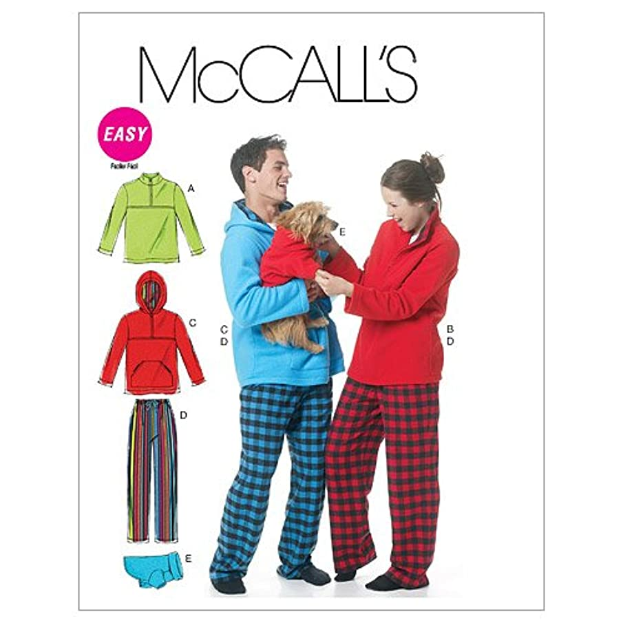 McCall's Patterns M6252 Misses'/Men's/Teen Boys' Tops, Pants and Dog Blanket, Size Y (XSM-SML-MED)