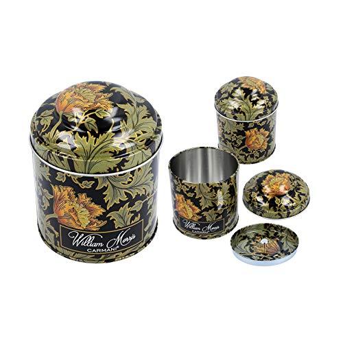 CARMANI - Wallpaper van William Morris bedrukt kleine metalen tin thee koffie suiker bus opslagdoos met deksels