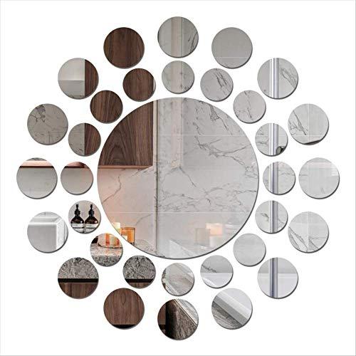 Spiegel muur driedimensionale acryl spiegel muursticker creatieve zelfklevende 3D kunst DIY huis decoratie Board plastic lens huis woonkamer bank muur decoratie decoratie 400mm * 400mm