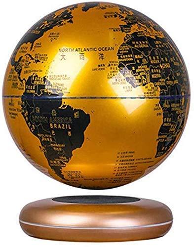 LULUTING LED magnetischer Levitation Schwebender Globus, selbstdrehende Kugel-Anti Gravity Weltkarte Erde Home Decoration Kinder Bildung Geschenk (golden)