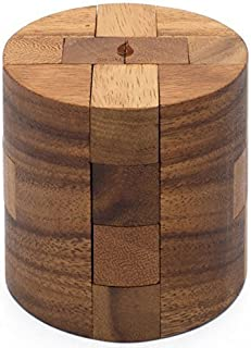 SiamMandalay Powder Keg: Wooden Puzzles for Adults an Interlocking 3D Cylinder Brain Teasers from with SM Gift Box (Pictured)