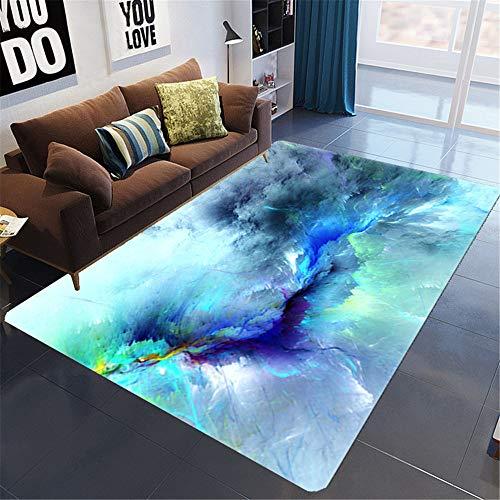 SONGHJ Teppich Aus Polyester-3D-Druck, Rechteckige rutschfeste Bodenmatte, Dekorationsteppich Für Das Wohnzimmer