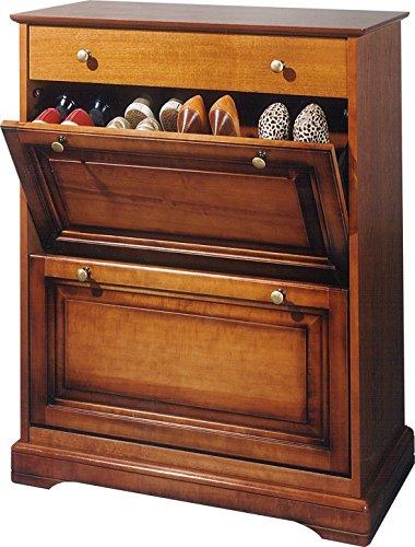 ACTUAL DIFFUSION Alsace Meuble à Chaussures Merisier Louis Philippe, Bois, 41x82x102,5 cm