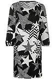 Street One Damen Kleid mit Sternenmotiv Black 38
