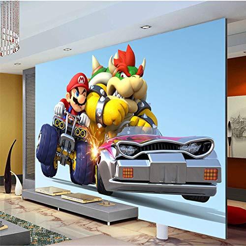 Benutzerdefinierte Tapete Super Mario Kart Foto Tapete Cartoon Spiel Wandbild Kinderzimmer Seide Kunst Zimmer Dekor Schlafzimmer Wohnzimmer