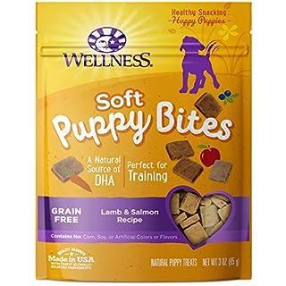 Wellness Soft Puppy Bites Natural Grain Free Puppy Training Treats, Lamb & Salmon, 3-Ounce Bag (B001HBBQKY) | Amazon price tracker / tracking, Amazon price history charts, Amazon price watches, Amazon price drop alerts