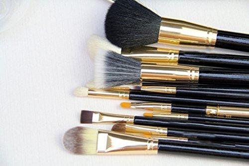 Cexin noire+ blonde professionel 12 pinceaux de maquillage équis avec trousse