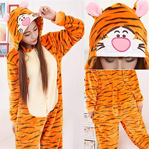 Winter Flanel Pyjamas Dames Onesies Cute Cartoon Animal Stitch Pyjama Sets Nachtkleding Nachtkleding (Color : 3, Size : S148 158CMHeigh)