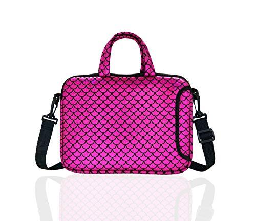 10.5-Inch Laptop Ipad Shoulder Carrying Bag Case For 9.6' 10' Tablet/Reader (Purple)