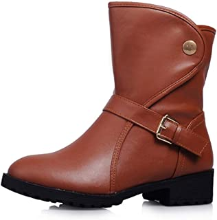 Women's Comfortable Slip On Ankle Boots Ladies Classic Concise Shoes