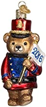Old World Christmas Marching Teddy 2016 Glass Blown Ornament by Old World Christmas