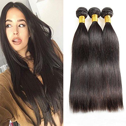 Huarisi 8a Cabello Natural Humano Liso 3 Bundles Straight Brazilian Human Hair Weave 24 26 28 Inches 300g Long Virgin Hair