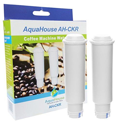 2x AquaHouse AH-CKR compatible para Krups F088 Claris agua filtro de cartucho para AEG Bosch Siemens Krups Cafetera