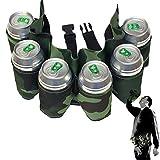 Dosen-Gürtel BEER BELT mit 6 Flaschen (Tarnung)