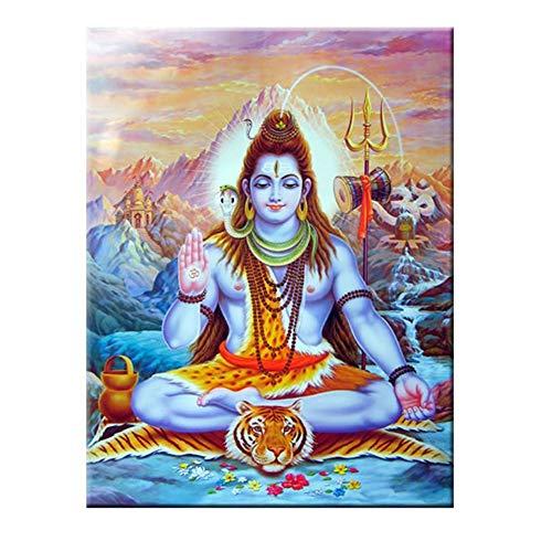 Shiva Lord Pinturas sobre Lienzo En la Pared Dioses hindúes Arte de la Pared Lienzo Hinduismo Carteles e Impresiones de Pared Cuadro Decoración para el hogar 60x80cm Sin Marco