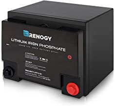 Renogy Lithium-Iron Phosphate Battery 12 Volt 50Ah for RV, Solar, Marine, and Off-grid Applications