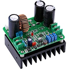 DC-DC 12-90V to 12-130V voltage converter module, continuously adjustable output, 900W maximum high power supports stable working Adopt 1mm dual-wire winding made inductance, high quality filter capacitance, great performance on boosting output volta...