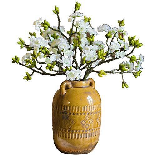 LHY- Simulation Blume Gefälschte Blume Wohnzimmer Indoor-TV-Schrank Blumenschmuck Dekoration Dekoration Kunststoff Floral Tischdekoration Trockenblumenstrauß Dekoration Mode (Color : A)