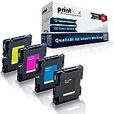 4x Cartucce per Stampanti Compatibili Ricoh Aficio Sg 2100 N 3100 Snw 3110 Dn Dnw Sfnw 7100 - K Nero Ciano Magenta Giallo - Gc-41 Gc41 - Color Serie Pro