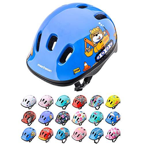 Casco Bicicleta Bebe Helmet Bici Ciclismo para Niño - Cascos para Infantil Bici Helmet para Patinete Ciclismo Montaña BMX Carretera Skate Patines monopatines (XS 44-48 cm, Teddy Builder)
