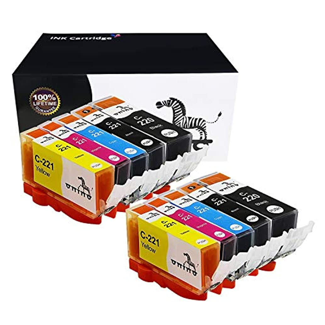 onino Compatible Ink Cartridges Replacement for Canon PGI-220 CLI-221 PIXMA IP3600 IP4700 MX860 MX870 MP560 MP620B MP630 MP640R MP980 Black Cyan Magenta Yellow 10-Pack
