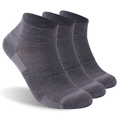 Ankle Athletic Socks, ZEALWOOD Women Men Low Cut Running Cycling Socks for Men & Women Gifts for Women Teen Girl Best Friend Gifts Wool Moisture Wicking Winter Winter Socks for Women Men S,Grey