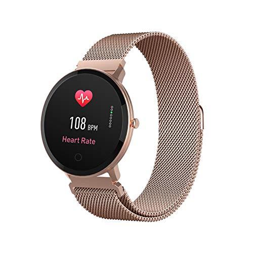 Forever Smartwatch, Armbanduhr im klassischen Uhrendesign, Fittnestracker mit Bluetooth, Pulsmesser, Schlafanalyse, Activity Monitor, Damen Fitness Tracker Wasserdicht IP67, Active Watch