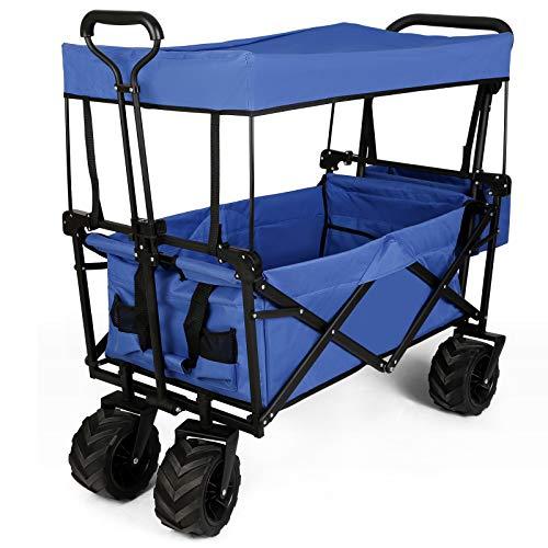 amzdeal Chariot de Jardin Pliable, Chariot Pliable...