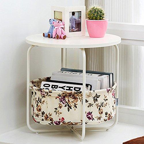 MEILING Moderne Simple Creative Mobile Petite Table Basse Simple Couche Ronde Fleurs Mini Salon Canapé Côté Quelques Cabinets Coin Quelques Table D'appoint
