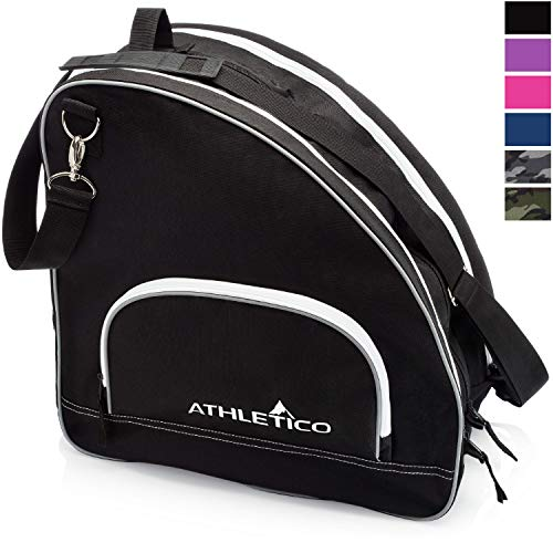 Athletico Ice & Inline Skate Bag - Premium Bag to Carry Ice Skates, Roller Skates, Inline Skates for Both Kids and Adults (Black)