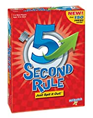 New! More than 150 fresh, new, fun cards! Pick a card, read the seemingly easy topic, then start the timer! now with only 5 seconds to name 3 things that fit the topic, it doesn't seem so easy! Players get tongue-tied, funny answers come flying out a...