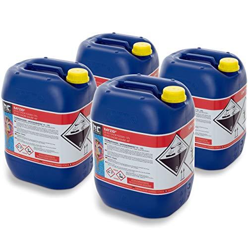 Höfer Chemie 4 x 25 kg Chlor flüssig - mit 13 bis 15{c57c05d07825b86d8f8d709d7424edf2d3927c4e69bc80910e5a8062096b23a8} Aktivchlorgehalt - Wasserdesinfektion für Pools