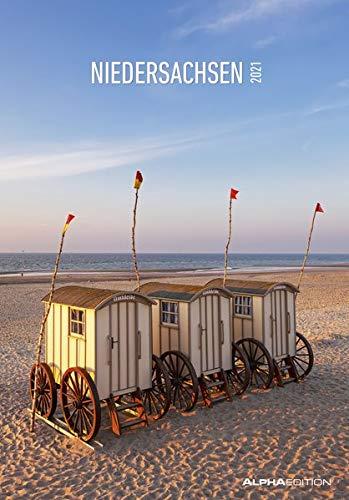 Niedersachsen 2021 - Bild-Kalender 24x34 cm - Regional-Kalender - Wandkalender - mit Platz für Notizen - Alpha Edition