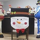 Wandskllss Tela de Mesa Ornamento De Navidad Old Man Snowman Cubierta del Asiento del Hotel Restaurante Restaurante Diseño De Vacaciones Vestido De Vestir Suministros Suministros Set