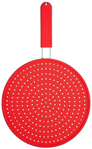 Kitchen Craft Colourworks - Tapa antisalpicaduras de Silicona, Color Rojo