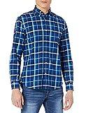 Cortefiel Camisa Cuadros Oxford ALGODÓN ORGÁNICO, Azul Oscuro, L para Hombre