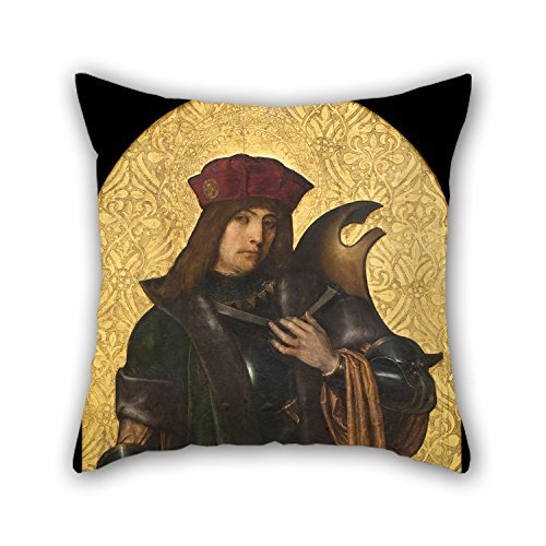 beautifulseason Oil Painting Ayne Bru - Saint Candidus Cushion Covers Best for Kids Floor Valentine Dance Room Monther Father 20 X 20 inches / 50 by 50 Cm(2 Sides)