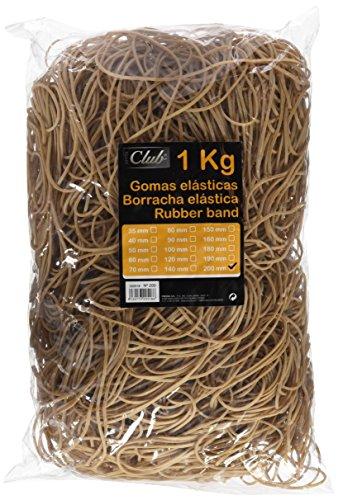 Bismark 152132 - Bolsa con gomas elásticas de 20 cm, 1 kg (320518)