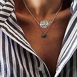 Gargantilla de árbol de la vida con capas de Ushiny Boho, collar de lentejuelas, colgante de moda, cadena de joyería para mujeres y niñas (plata)