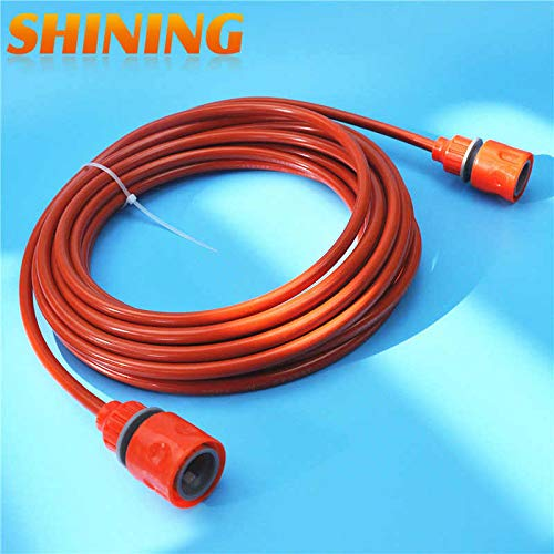 7m Orange PU Car Washing Garden Watering Hose Pipe with Quick Connector High Pressure Car Washer Pipeline Conduit 5 * 8mm