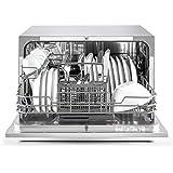 Klarstein Amazonia 6 Argentea Spülmaschine Tischgeschirrspülmaschine (1380 Watt, 55 cm breit, 6 Maßgedecke, geräuscharm, 6 Programme, Aquastop, LED-Kontrollleuchten) silber - 4