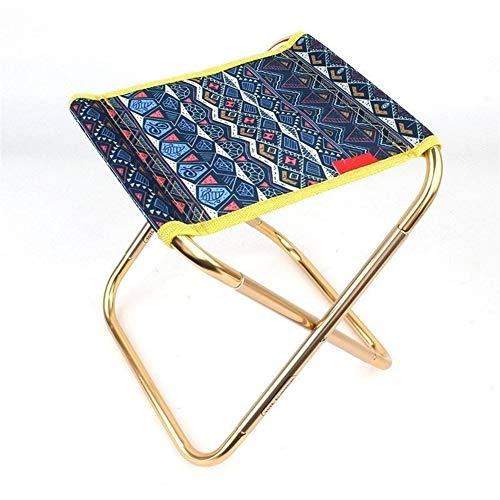 Taburete pequeño plegable al aire libre pequeño taburete mini portátil barbacoa pesca silla tren taburete Pony