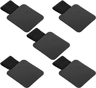 oAuLrX [5 Pack] ペンホルダー ペンループ タッチペンケース 接着シール式 ペンケース Pen loop Pen Holder 手帳/日記帳 (Black 黒)