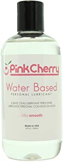 PinkCherry Water Based Lubricant in 8oz/240ml - Unscented Unflavored Non-Staining Lubricant