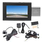 Cámara de Tablero,Grabador de conducción 3in 4G Navegación GPS 1080P Bluetooth Oculto Car Dash CAM Visión Nocturna DVR para Sistema Android 8.1