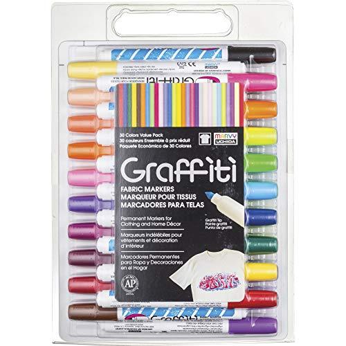 UCHIDA of America 560-30A 30-Piece Graffiti Fabric Marker