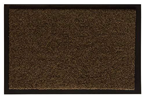 Andiamo Schmutzfangmatte Fußabtreter Türmatte Unifußmatte Fußmatte, Polyamid, Teak, 90 x 150 x 0,4 cm